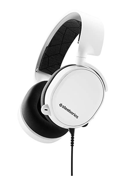 9bedeceddb3 Amazon.com: SteelSeries Arctis 3 (2019 Edition) All-Platform Gaming Headset  for PC, PlayStation 4, Xbox One, Nintendo Switch, VR, Android, and iOS -  White: ...