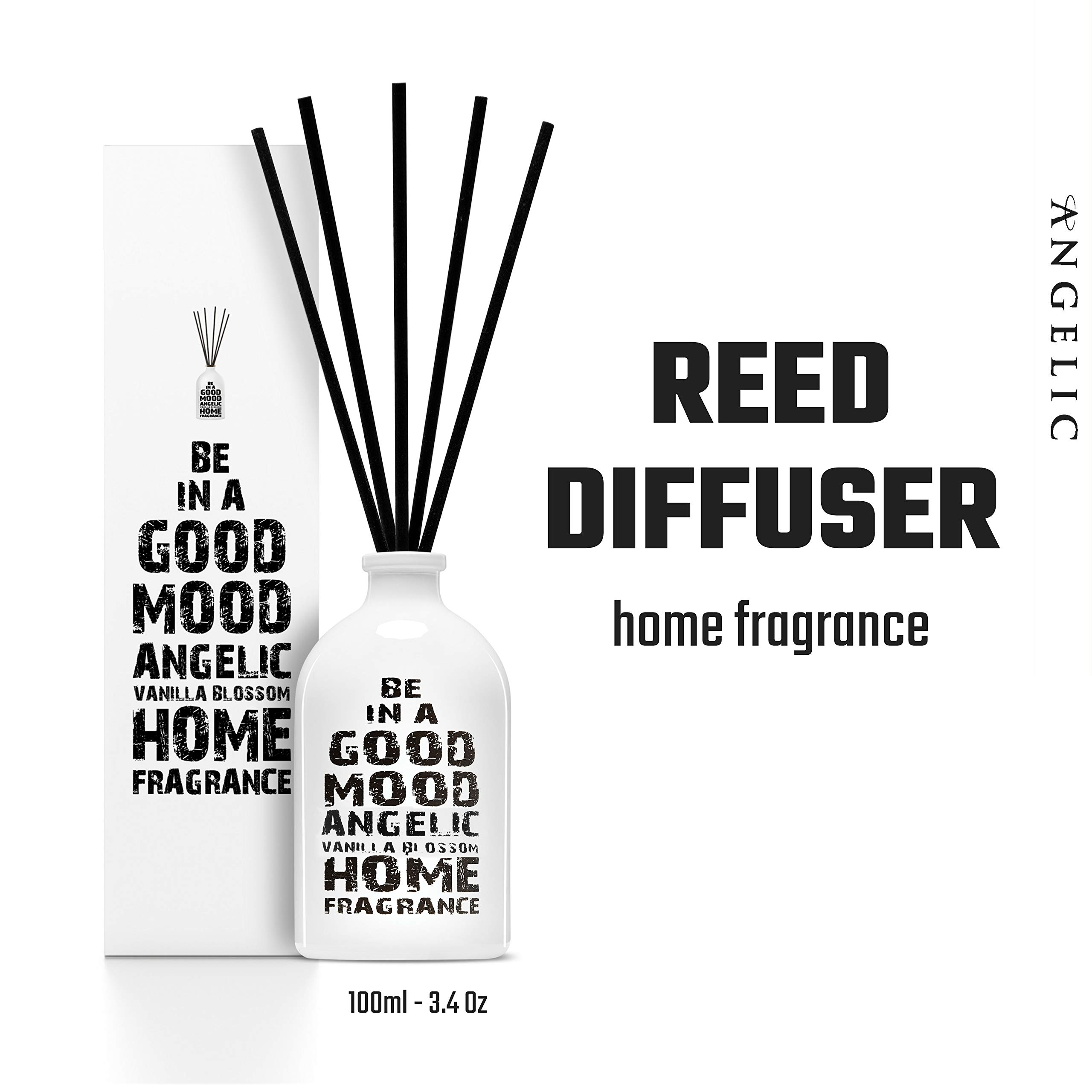Be in a Good Mood Aromatherapy Diffuser Sticks | Reed Diffuser Set | Aromatic Home Fragrance Set | Essential Oil Diffuser Sticks, Made of Natural Scented Oils Blend - 6 Pack (Vanilla Blossom) by Be in a Good Mood (Image #7)