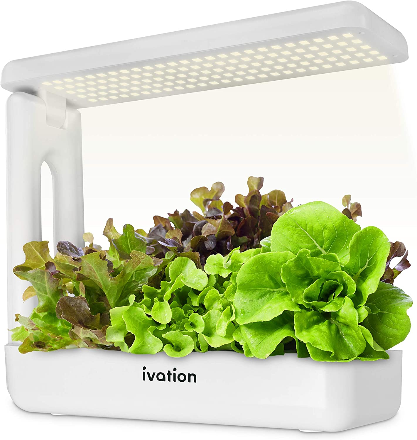 Ivation Herb Indoor Garden Kit Complete Hydroponic Grow System For Herbs Plants Vegetables With Led Light Seeding Box Sponge Cubes Planting Pods Hats Nutrients Tweezers Just