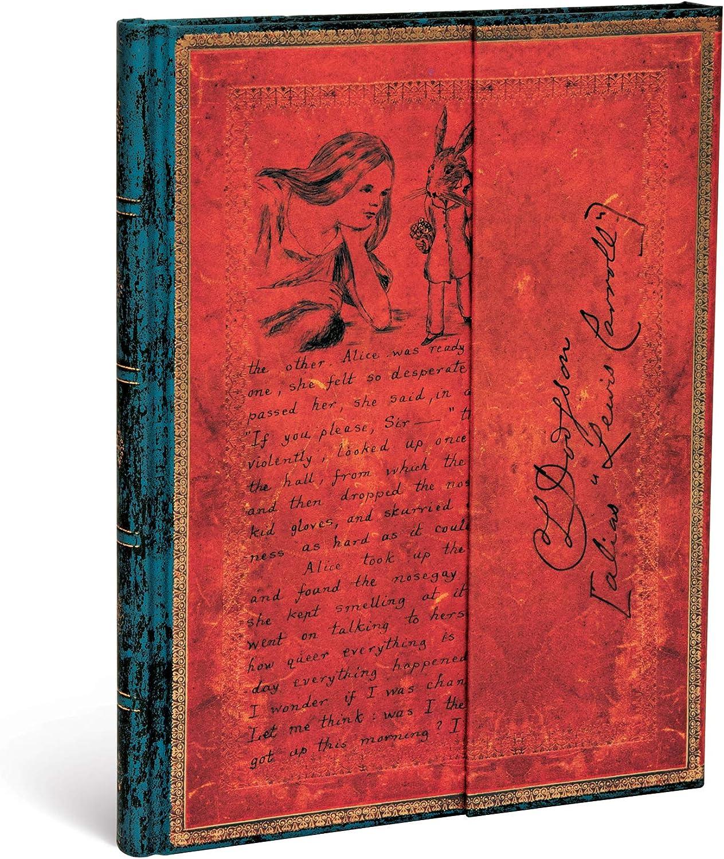 Paperblanks Hardcover Journals Lewis Carroll, Alicia en el País de las Maravillas | Liso | Ultra (180 × 230 mm) (Embellished Manuscripts Collec)
