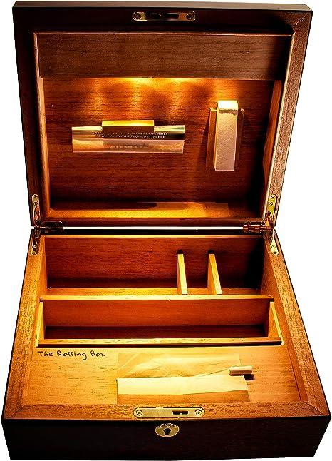 The Rolling Box Sapeli 260; Caja almacenamiento, caja fumador para ...