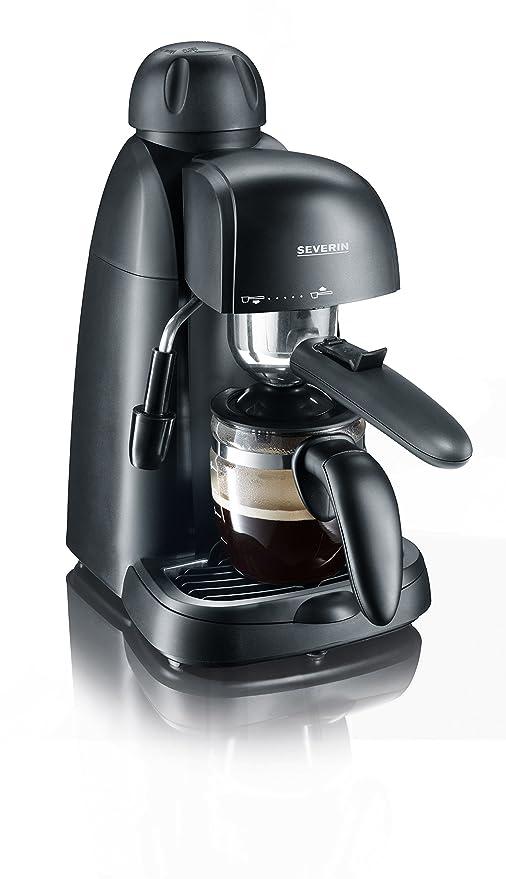 SEVERIN KA 5978 Cafetera Espresso, Incl. Jarra para Servir y Cuchara Dosificadora, Hasta 4 Tazas, 800 W, 0.22 litros, Plástico, Negro
