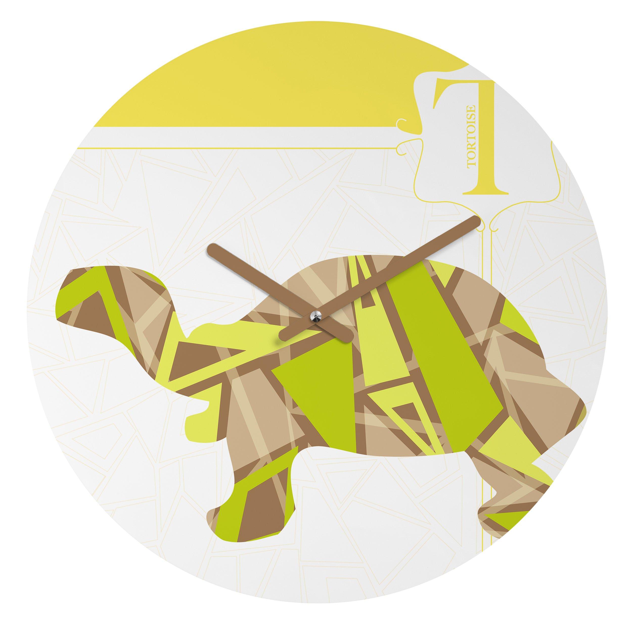 Deny Designs Jennifer Hill, Mister Tortoise, Round Clock, Round, 12'' by Deny Designs