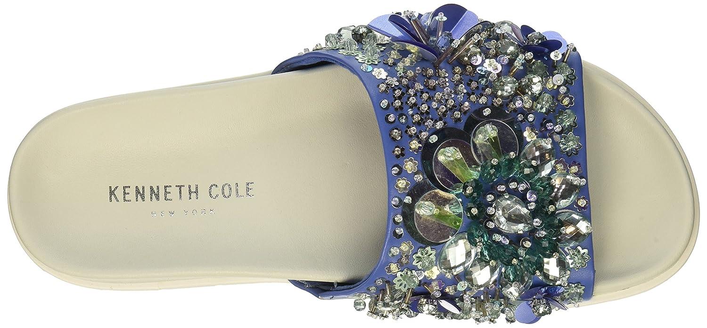 Kenneth Cole New York Women's Xenia Embellished Pool Slide Sandal B07C3G2WR3 9 B(M) US|Blue/Multi