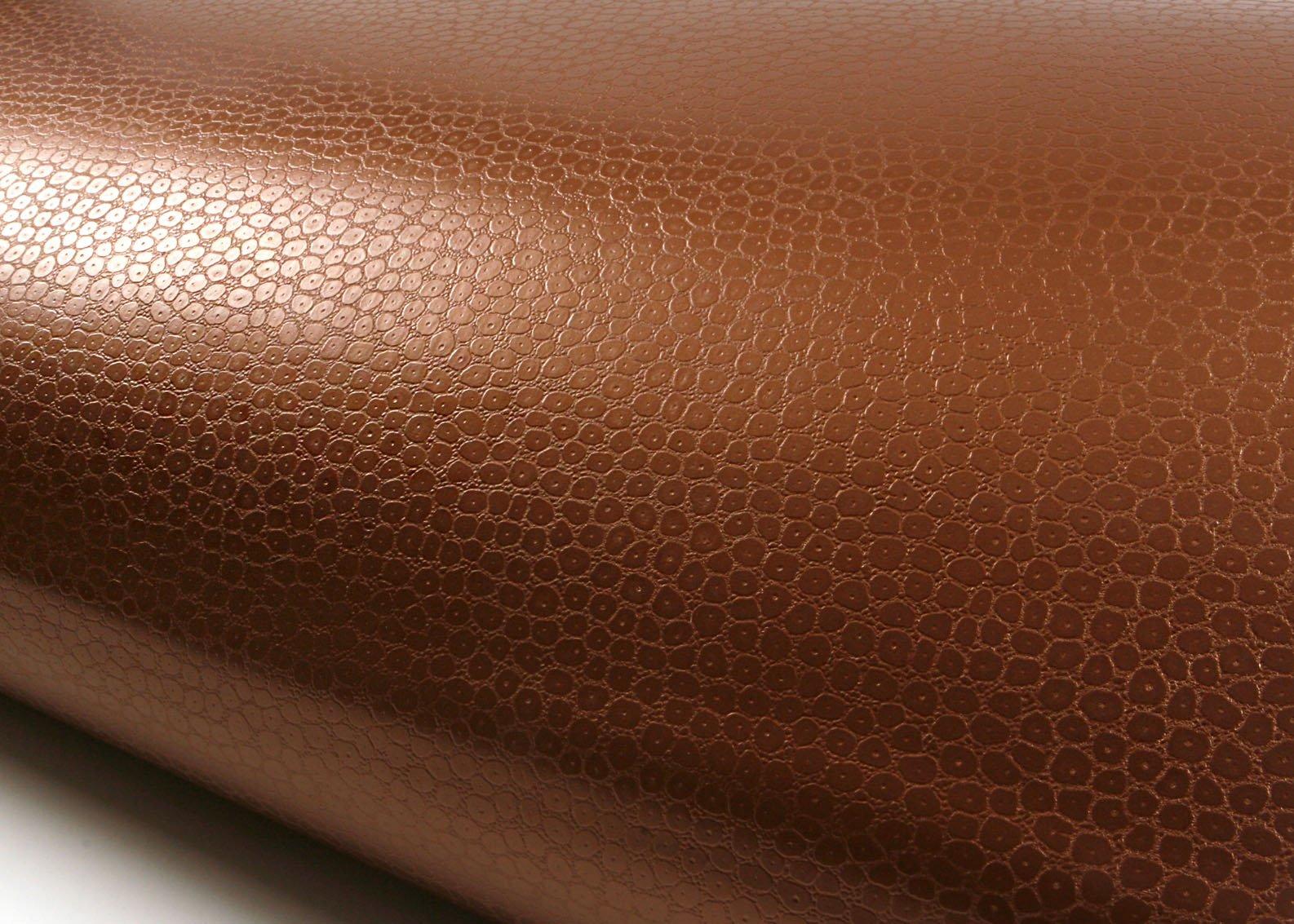 ROSEROSA Peel & Stick Backsplash Crocodile Tiger Camel Leather Textured Vinyl Contact Paper Self-Adhesive Wallpaper Shelf Liner Table Door Reform (MF5600-1 : 1.98 Feet X 6.56 Feet)