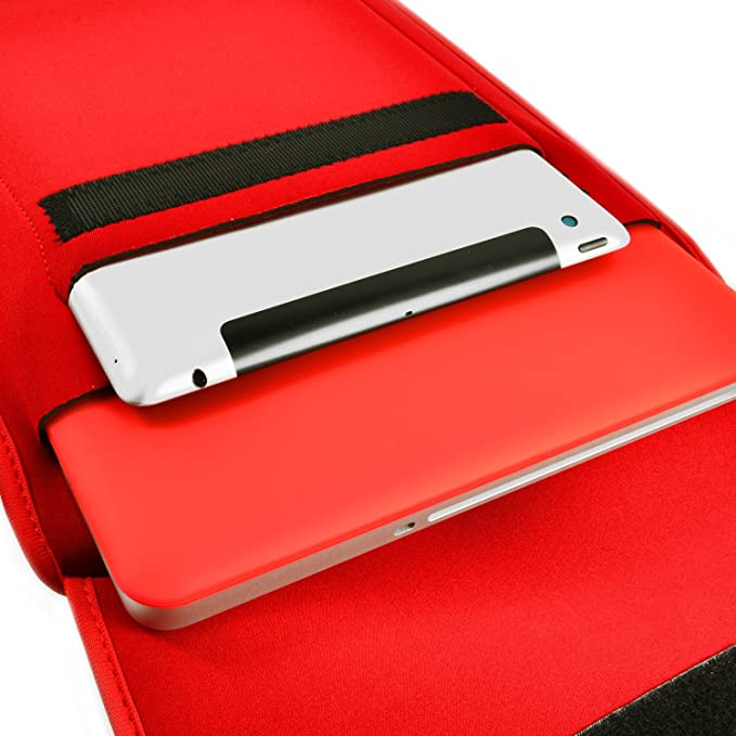 Stay Rad Red Lips 13-15 Inch Laptop Sleeve Bag Portable Dual Zipper Case Cover Pouch Holder Pocket Tablet Bag,Water Resistant,Black