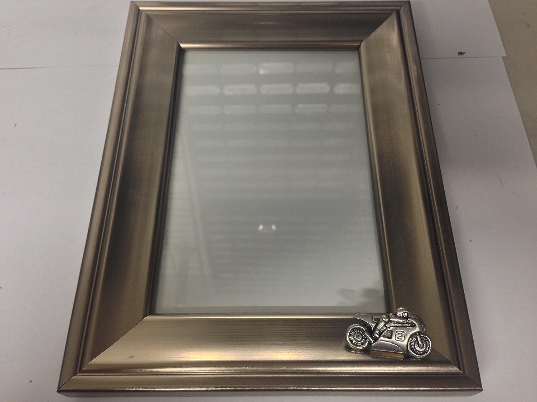 P2 Motorrad Nr. 2 3D Bilderrahmen Silber Emblem 6 x 4 Ständer ...