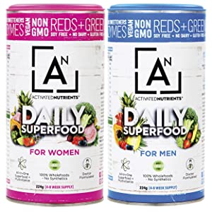 Activated Nutrients Natural Raw Vegetables Daily Superfood Powder