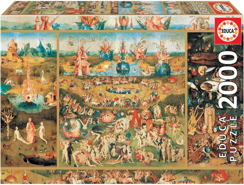Educa Borras - Genuine Puzzles, Puzzle 2.000 piezas, El Jardín de las delicias (18505): Amazon.es: Juguetes y juegos