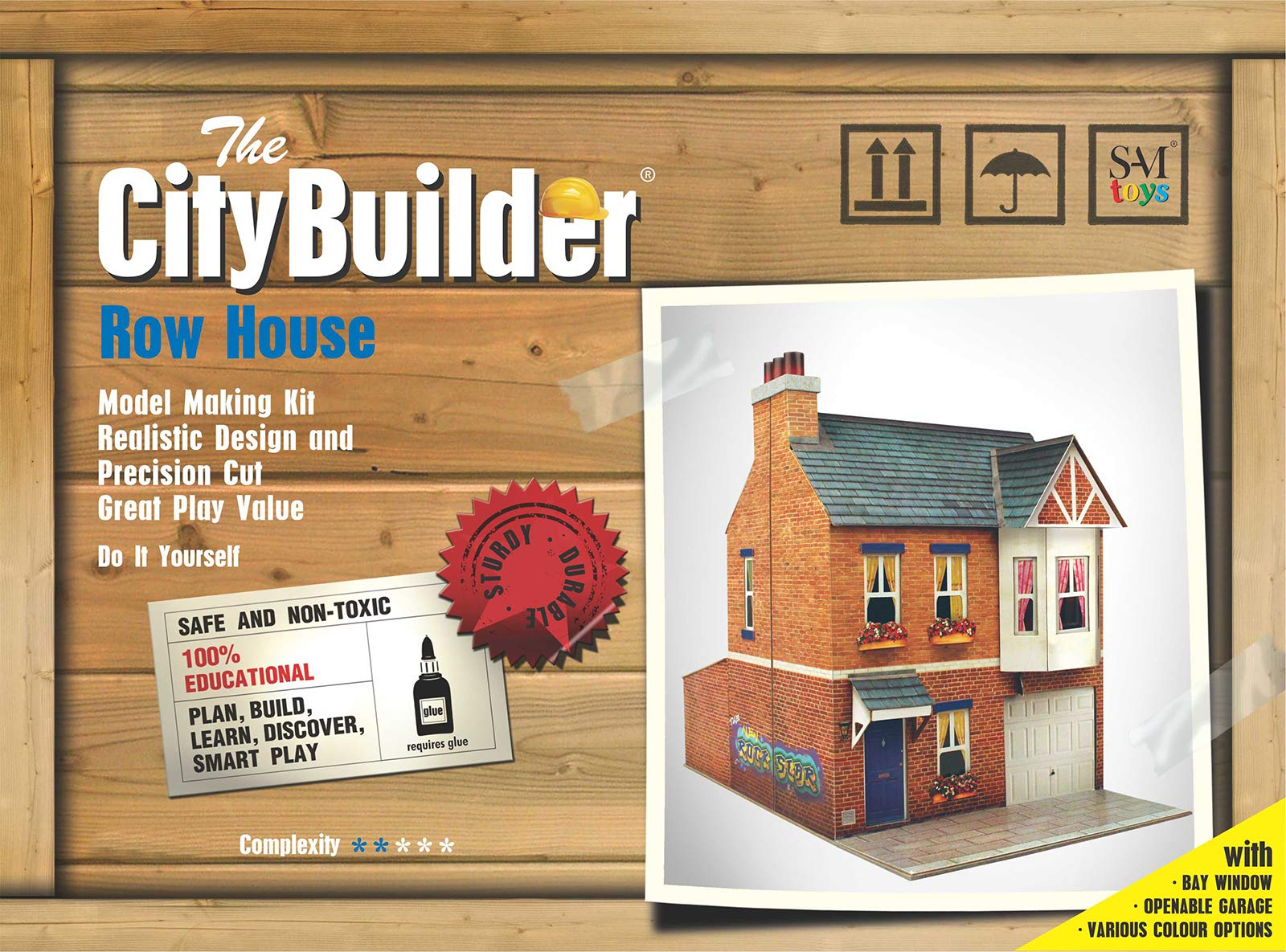 The CityBuilder O Gauge 1:48 Scale Row House Cardboard Model Making Kit Model Railroad Building