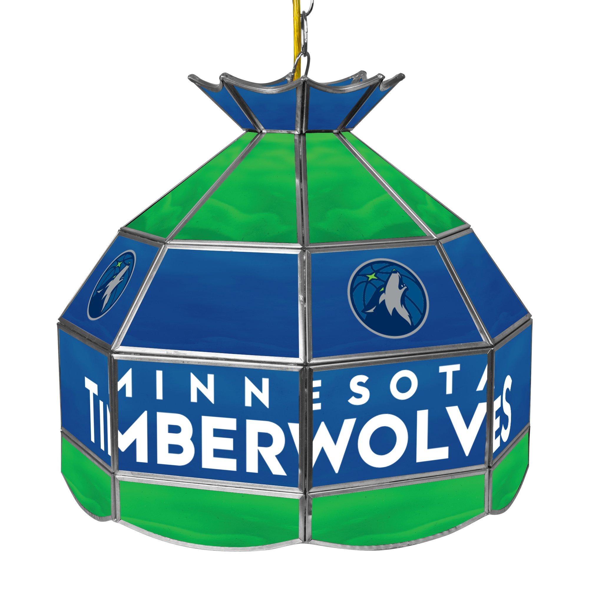 NBA Minnesota Timberwolves Tiffany Gameroom Lamp, 16'' by Trademark Gameroom