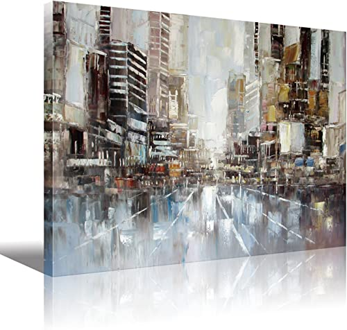Wooden Framed New York City Abstract Paintings HD Print on Canvas