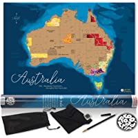 Large A1 Designer Scratch map of Australia with Premium Design Suitable for Living Room