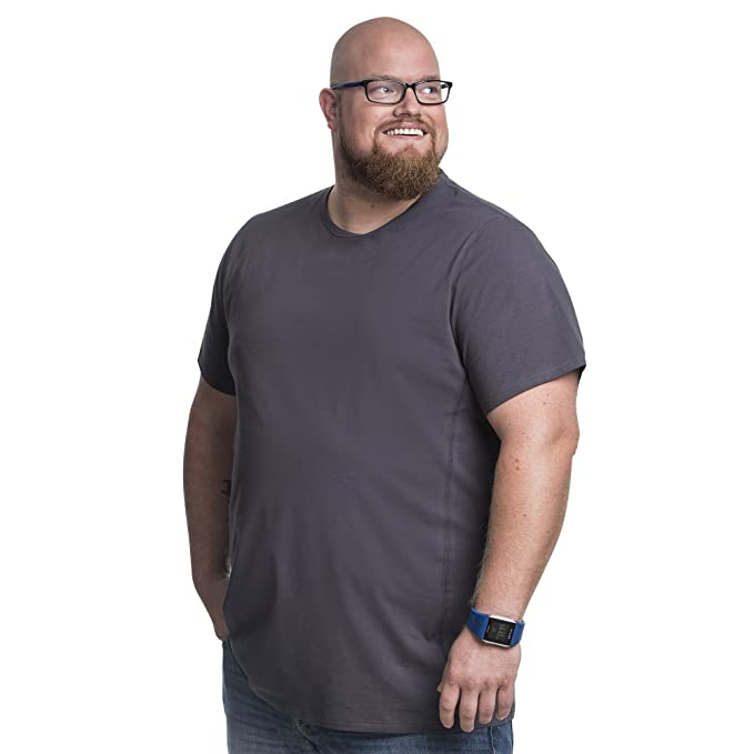 Fashion-t-Shirts Hombre Essentials Paquete de 2 Camisetas de Manga Corta con Cuello Redondo