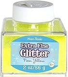 Sulyn 2oz. Glitter Stacker Jar- Neon Yellow