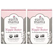 Organic Nipple Butter Breastfeeding Cream by Earth Mama | Lanolin-free, Safe for Nursing & Dry Skin, Non-GMO Project Verified, 2-Fluid Ounce (2-Pack) (Packaging May Vary)