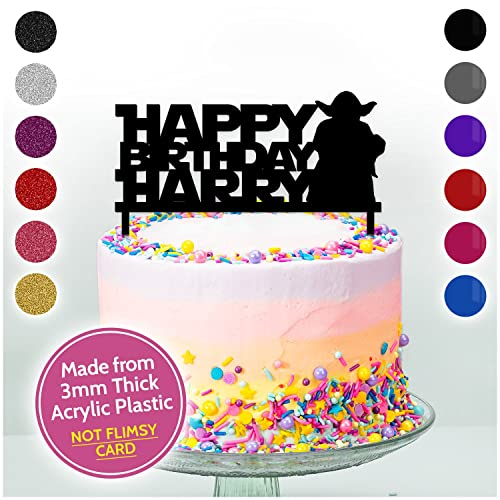 Marvelous Yoda Starwars Birthday Decoration Cake Topper Personalised Any Personalised Birthday Cards Fashionlily Jamesorg