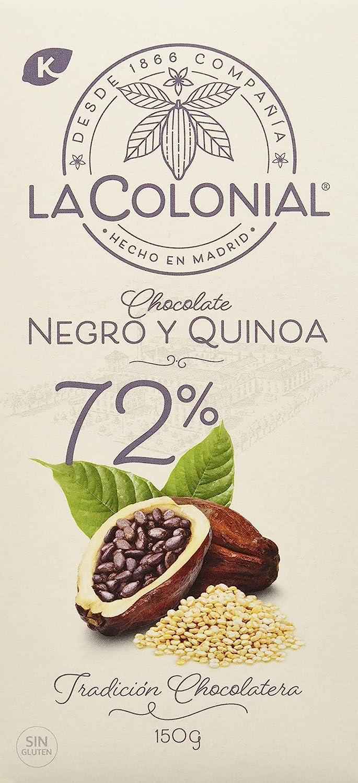 La Colonial Chocolate Negro 72% Cacao con Harina de Quinoa ...
