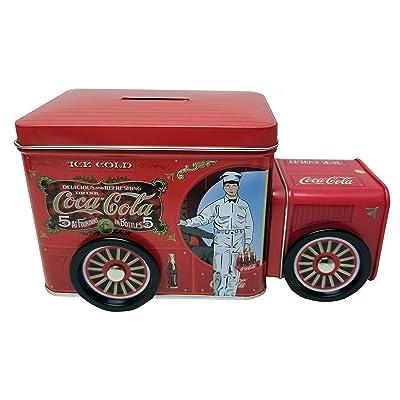 Coca Cola Replica Truck Tin Bank: Toys & Games