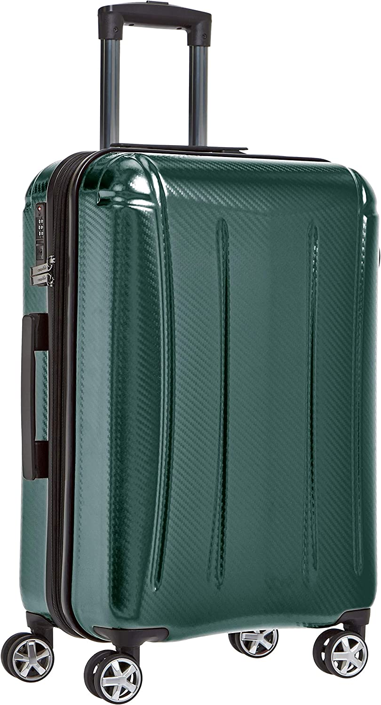 AmazonBasics - Maleta rígida «hardside» Oxford, con ruedas - 68 cm, Verde