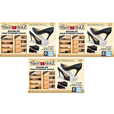 Shoe Slotz Ivory Storage Units (Set of 3) Brand new and Fast shipping Made in USA