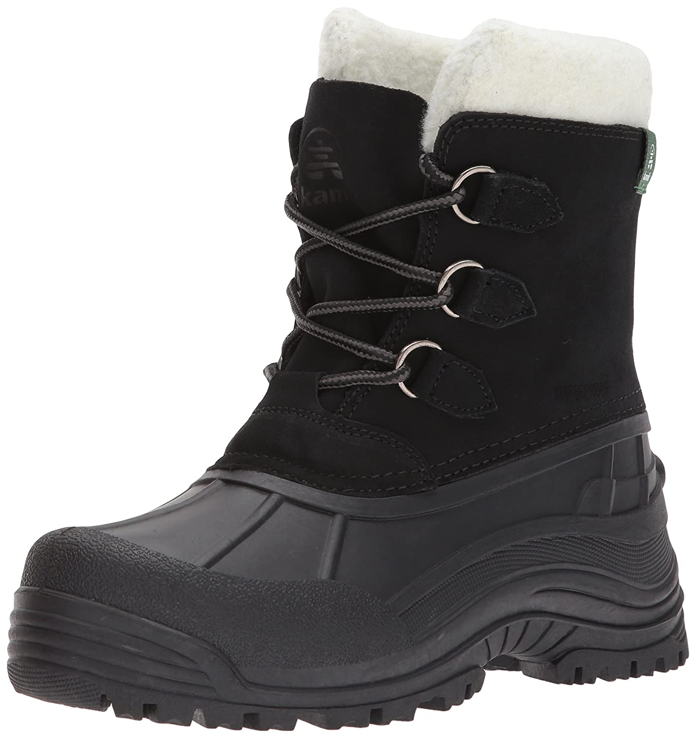 Kamik Women's Tracy Snow Boot B01MU5T9P6 7 D US|Black