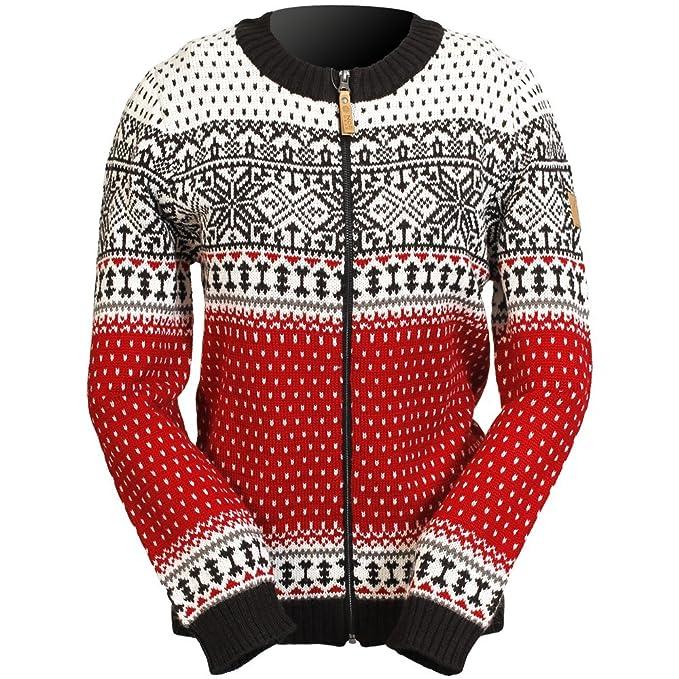 weit verbreitet neuer Lebensstil elegant und anmutig ICEWEAR Martha-Strickjacke für Frauen aus Wolle im norwegischen Stil mit  durchgehendem Reißverschluss, Rundhalsausschnitt | nordisch inspiriertes ...