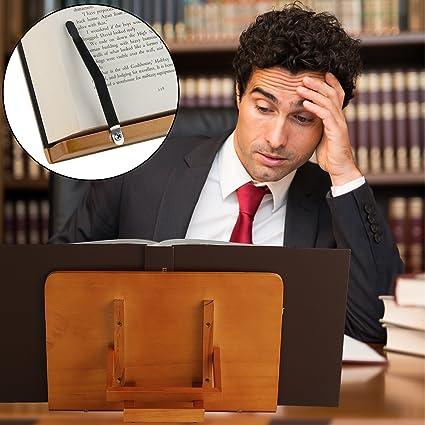 ATRIL PARA LIBROS y Soporte de Tablets | Diseñado para sujetar libros grandes y manuales de