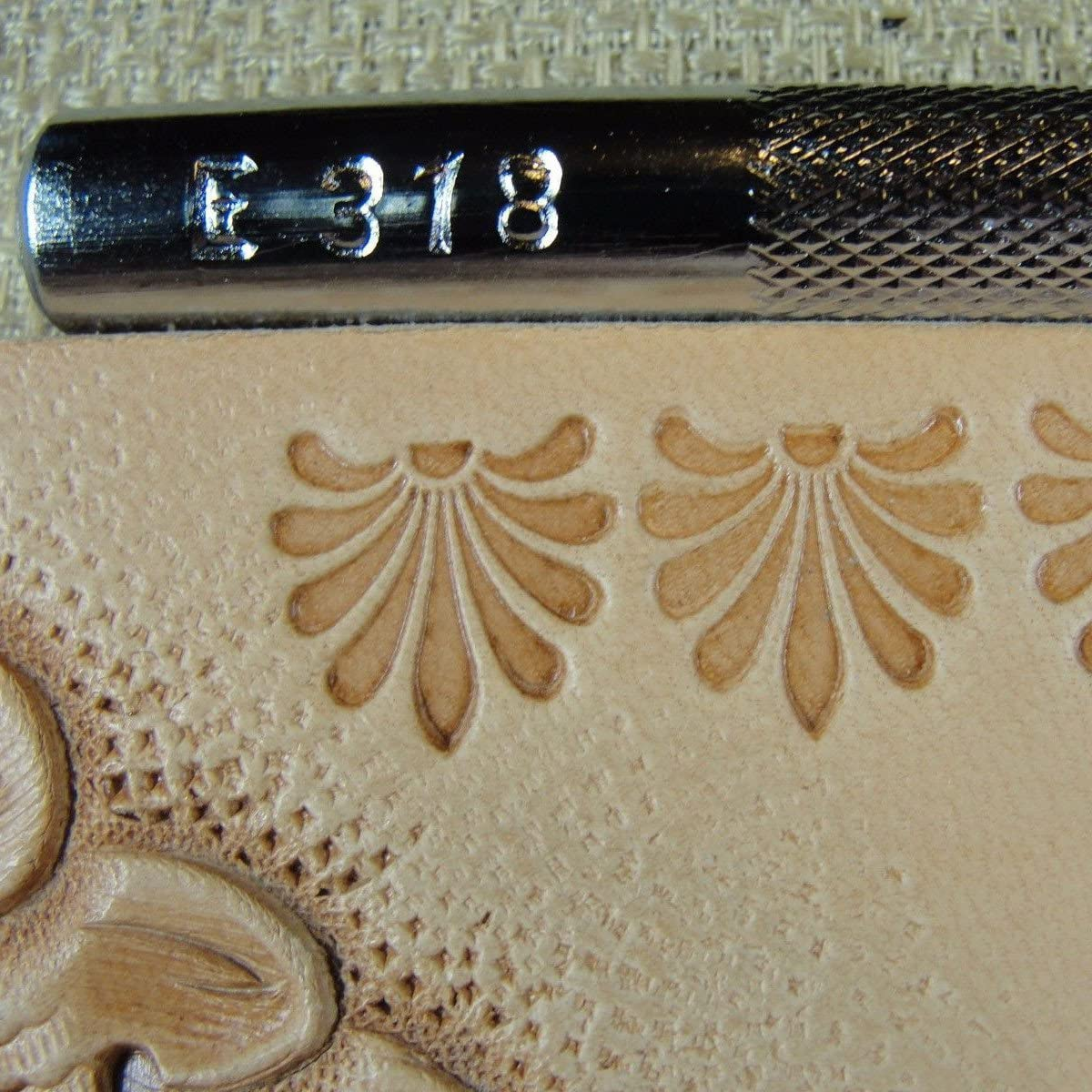 Craft Japan Leather Stamping Tool #E318 Floral Border Stamp