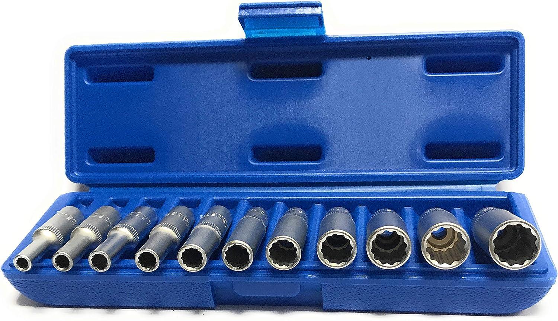 six pans | 6 mm 1//4 pour perceuses Douille /à choc 6,3 mm BGS 2762 extra longue