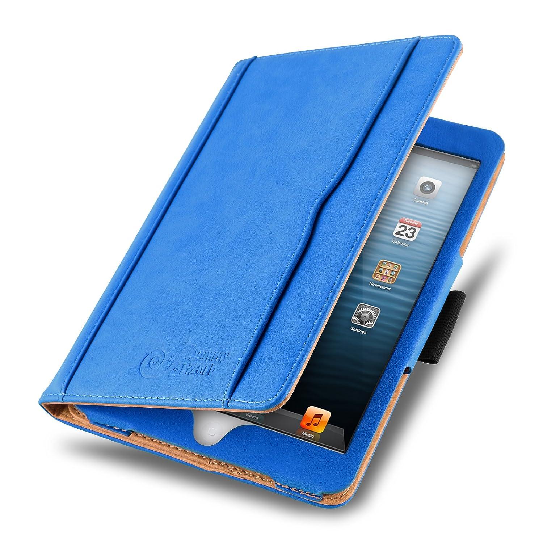 [ iPad Mini 4 / 3 / 2 y iPad Mini (1ªGen.) ] - Funda Tipo Libro De Piel Jammylizard Edición Original Smart Case Con Portalápiz Integrado, NEGRO / CANELA DEES1347BLTN