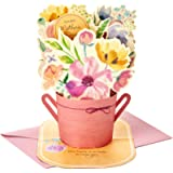 Hallmark Mahogany Paper Wonder Mothers Day Pop Up Card for Mom (Pink Flower Bouquet, You're the Best) (699MBC1127)