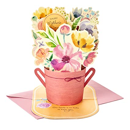 Hallmark Paper Wonder Mothers Day Pop Up Card For Mom Pink Flower Bouquet You Re The Best