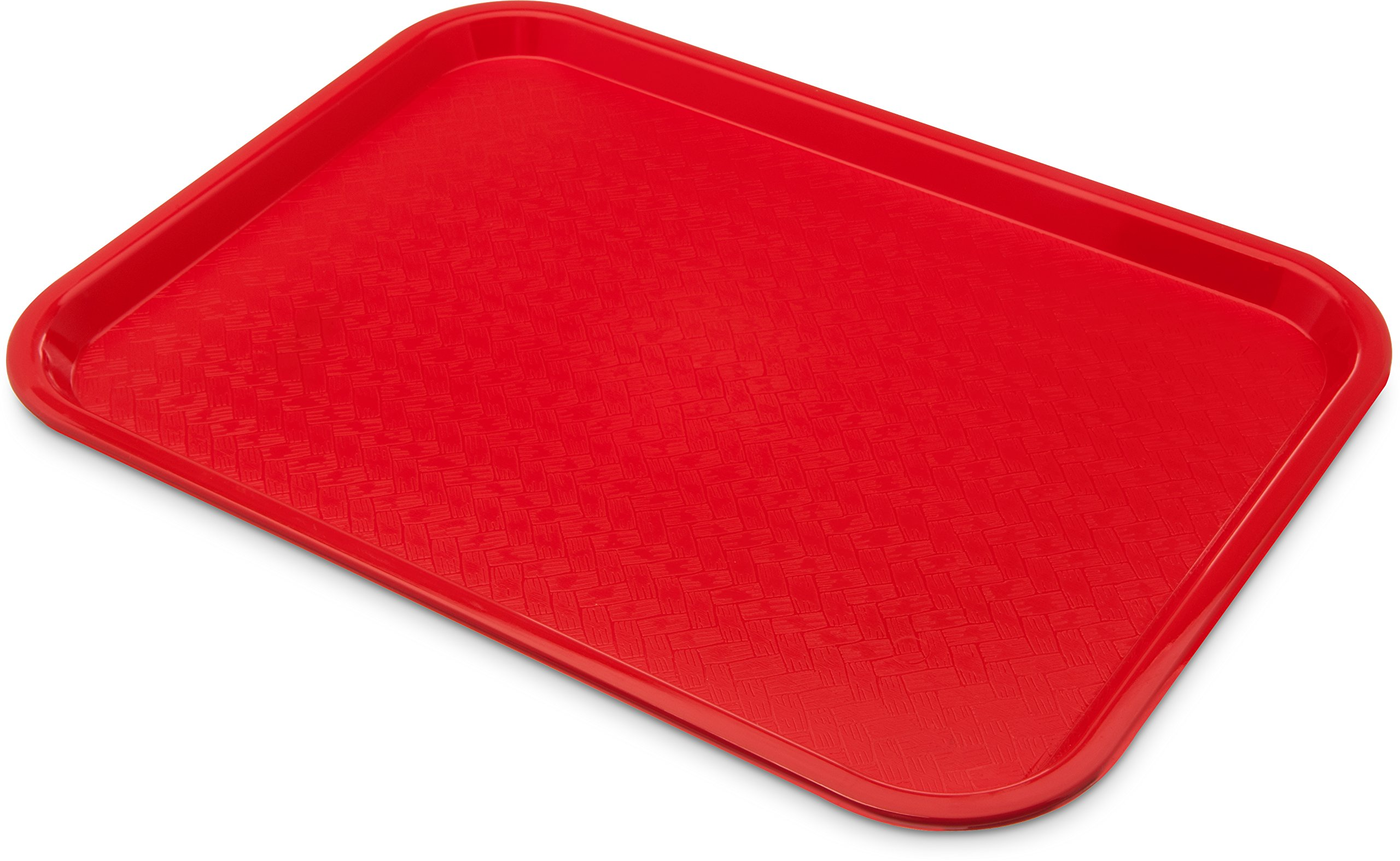 Carlisle CT1216-8105 Café Standard Cafeteria / Fast Food Tray, 12'' x 16'', Red (Pack of 6) by Carlisle