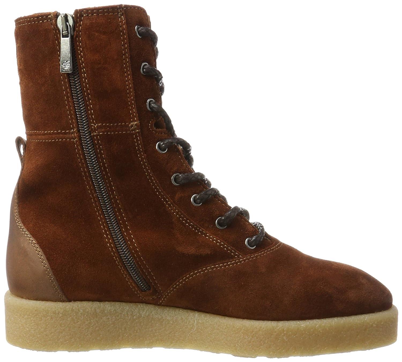 Lace Flat Heel Bootie 70914296301304, Botas Plisadas para Mujer, Marrón (Taupe), 41 EU Marc O'Polo