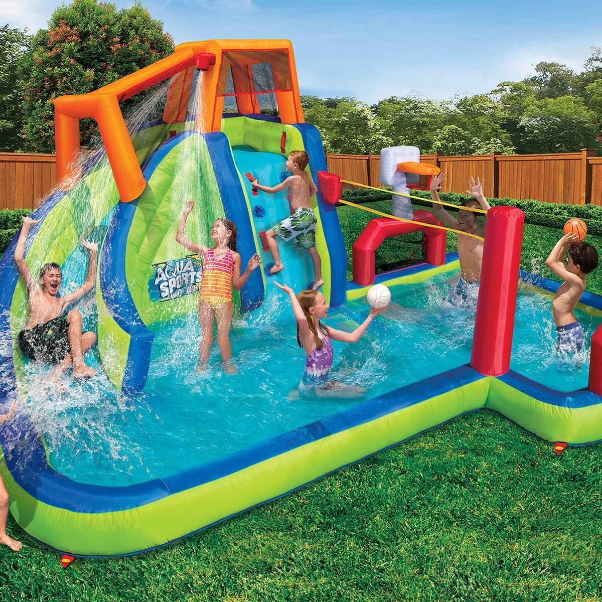 BANZAI Aqua Sports Inflatable Water Park - Buy Online in ...