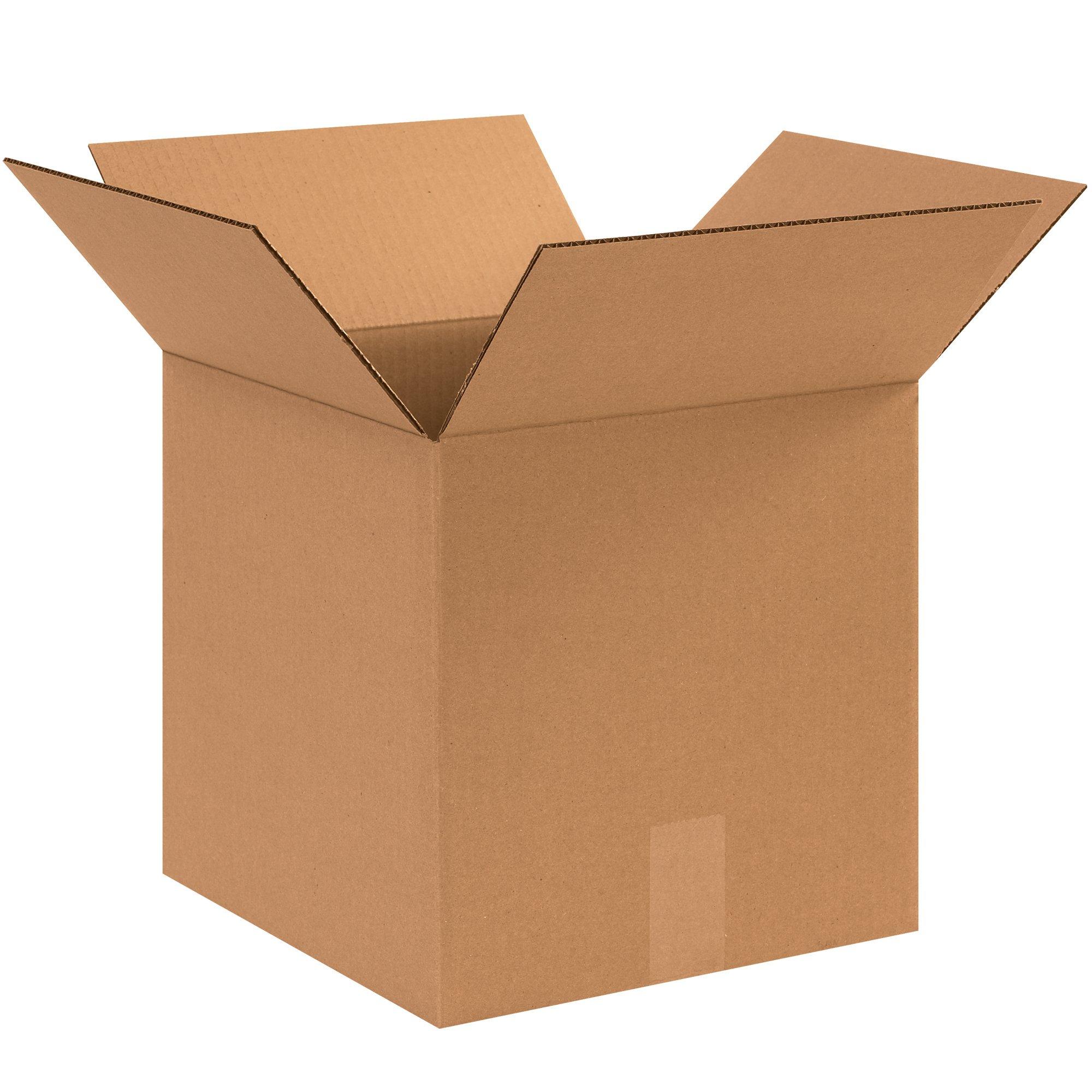 BOX USA B1212121000PK Corrugated Boxes, 12''L x 12''W x 12''H, Kraft (Pack of 1000)