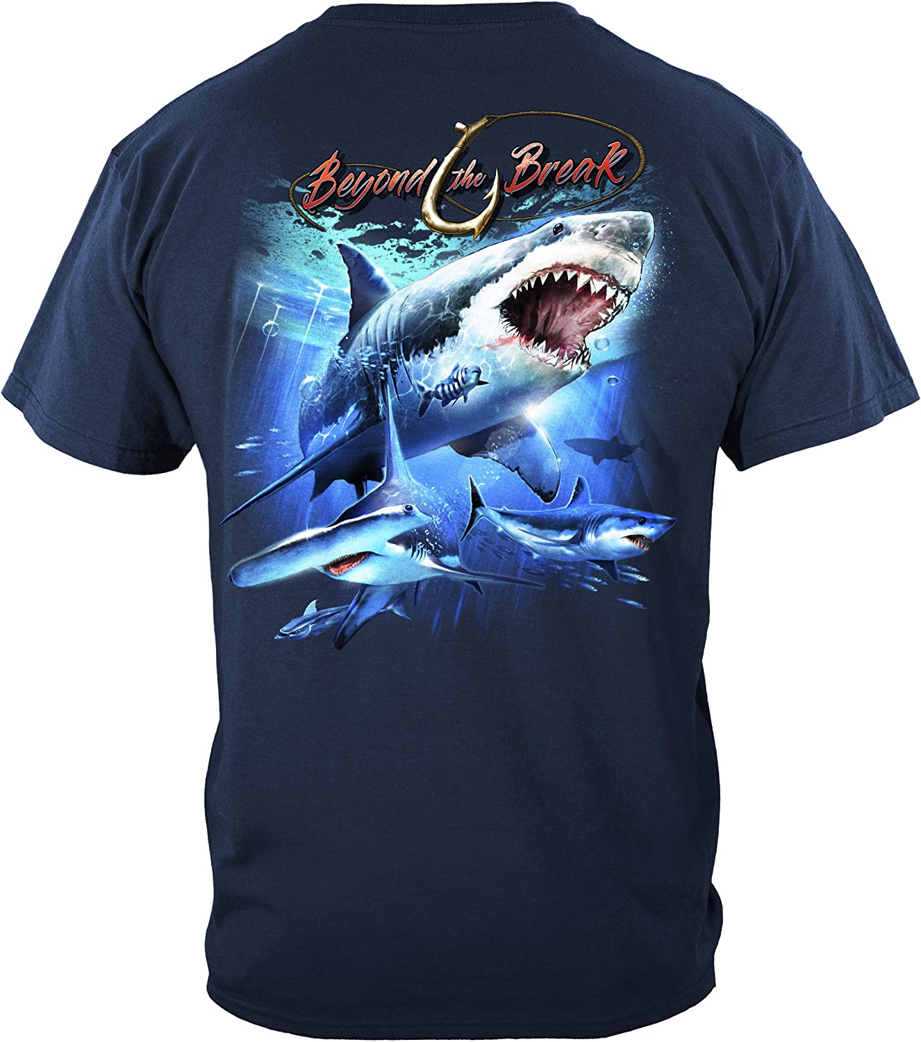Shark Off Shore Fishing T Shirt BTB2379