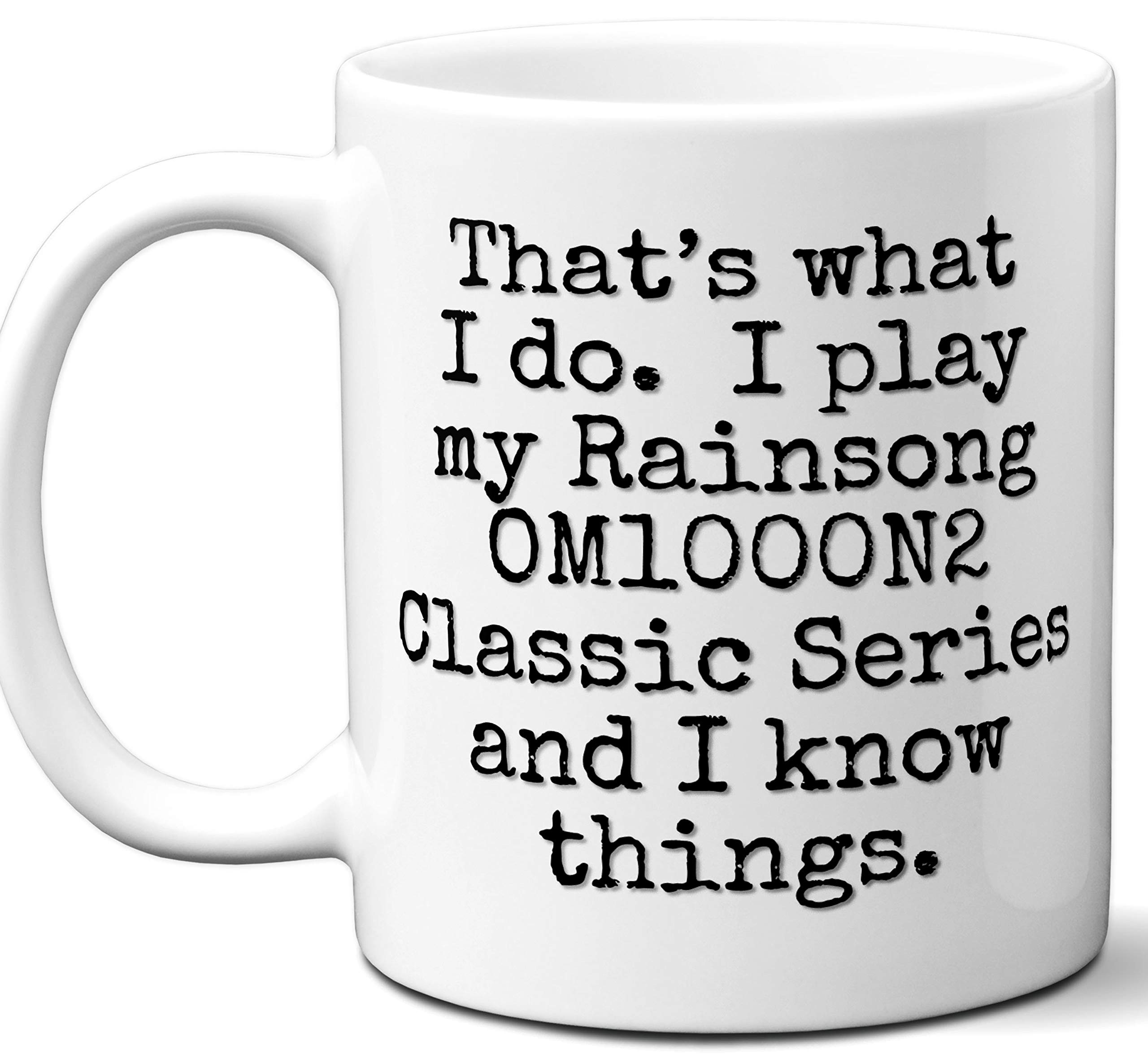 Guitar Gifts Mug. Rainsong OM1000N2 Classic Series Guitar Players Lover Accessories Music Teacher Lover Him Her Funny Dad Men Women Card Pick Musician Acoustic Unique by Ombura