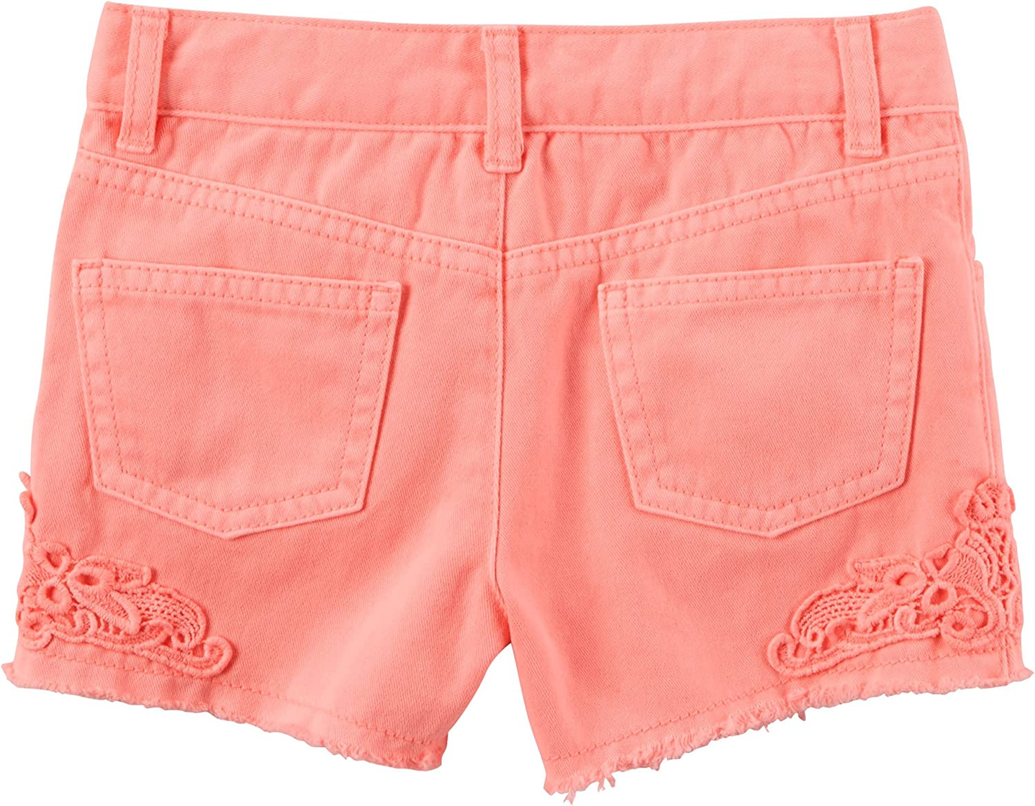 3 Months Orange Carters Baby Girls Lace Twill Shorts