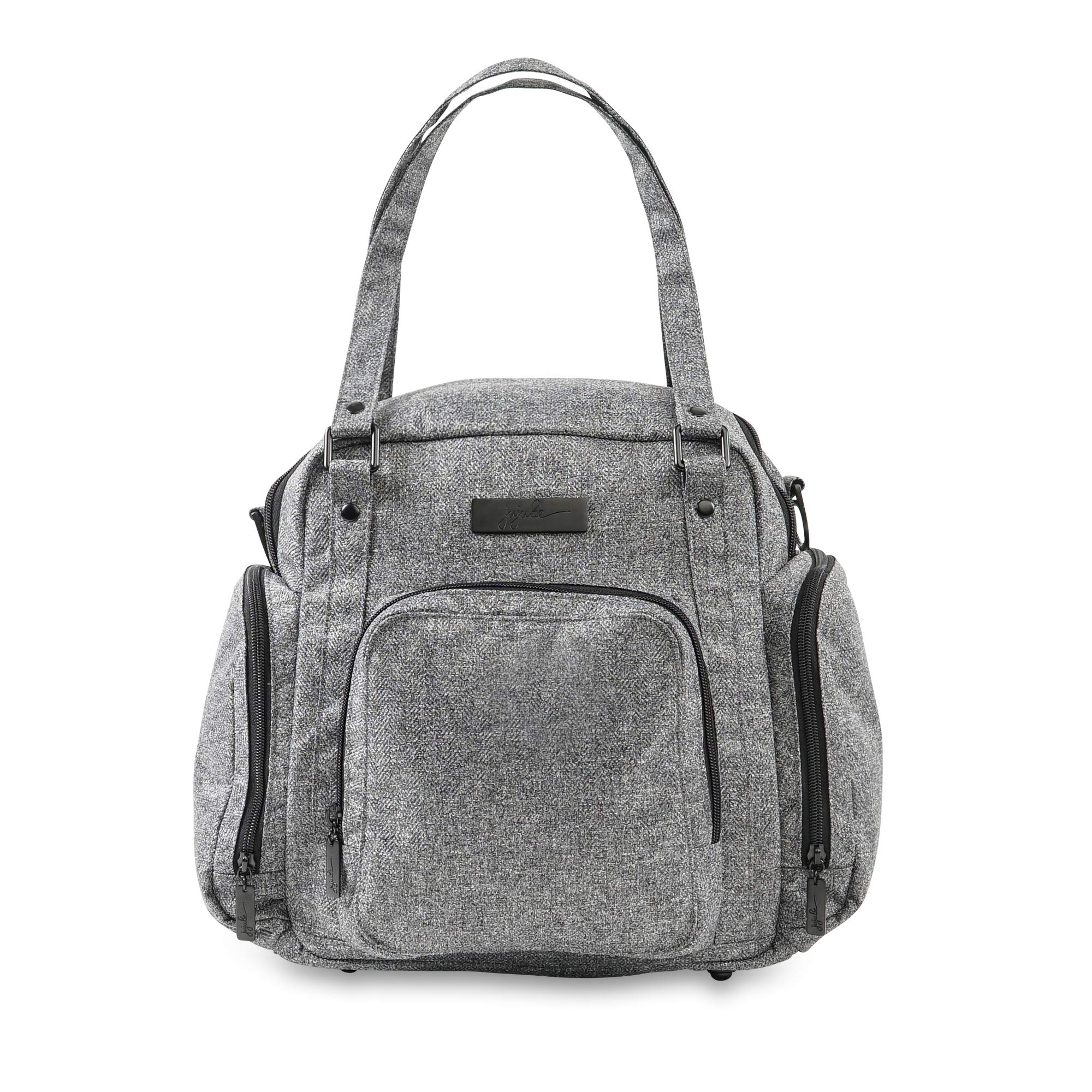 JuJuBe Travel Breast Pump Messenger/Tote Bag Onyx Collection, Gray Matter