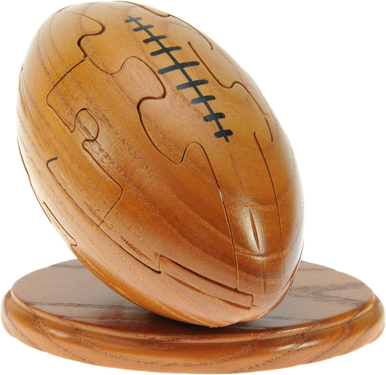 Pelota de Rugby en 3-D Rompecabezas de Madera: Llavero Gratuito: Diversión Rompecabezas - Hecho a Mano de Madera de la Idea Primera Novedad! ¡para los Hombres! Gran Amantes del Rugby!: Amazon.es: Juguetes