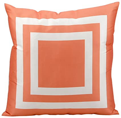 Amazon Com Mina Victory As551 Outdoor Pillow 20 By 20 Inch Orange