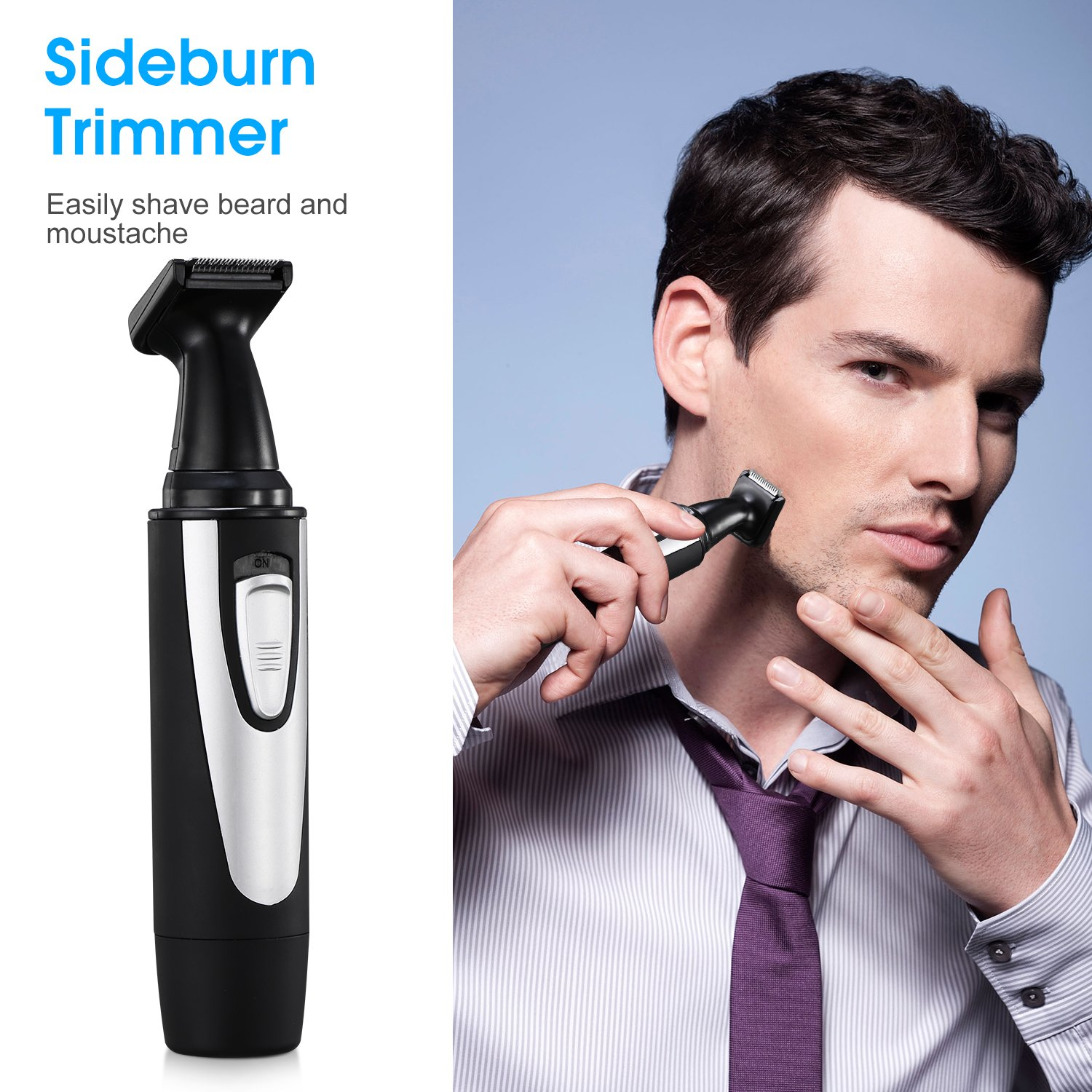 Has Mens facial hair trimmer excited