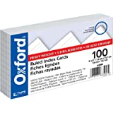 "Oxford Heavyweight Ruled Index Cards, 3"" x 5"", White, 100 Per Pack (63500)"