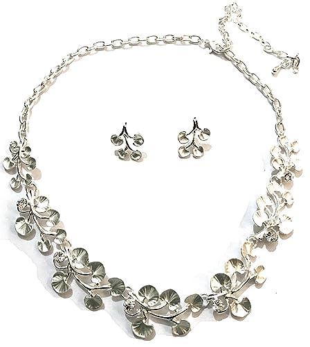 comprare on line 3a21b 68e31 Splendida argento orecchini e collana set, matrimoni, balli ...