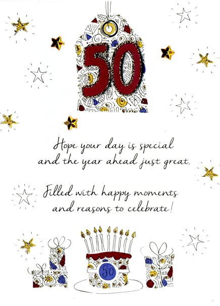 Amazon Male 50th Birthday Greeting Card Second Nature Just To