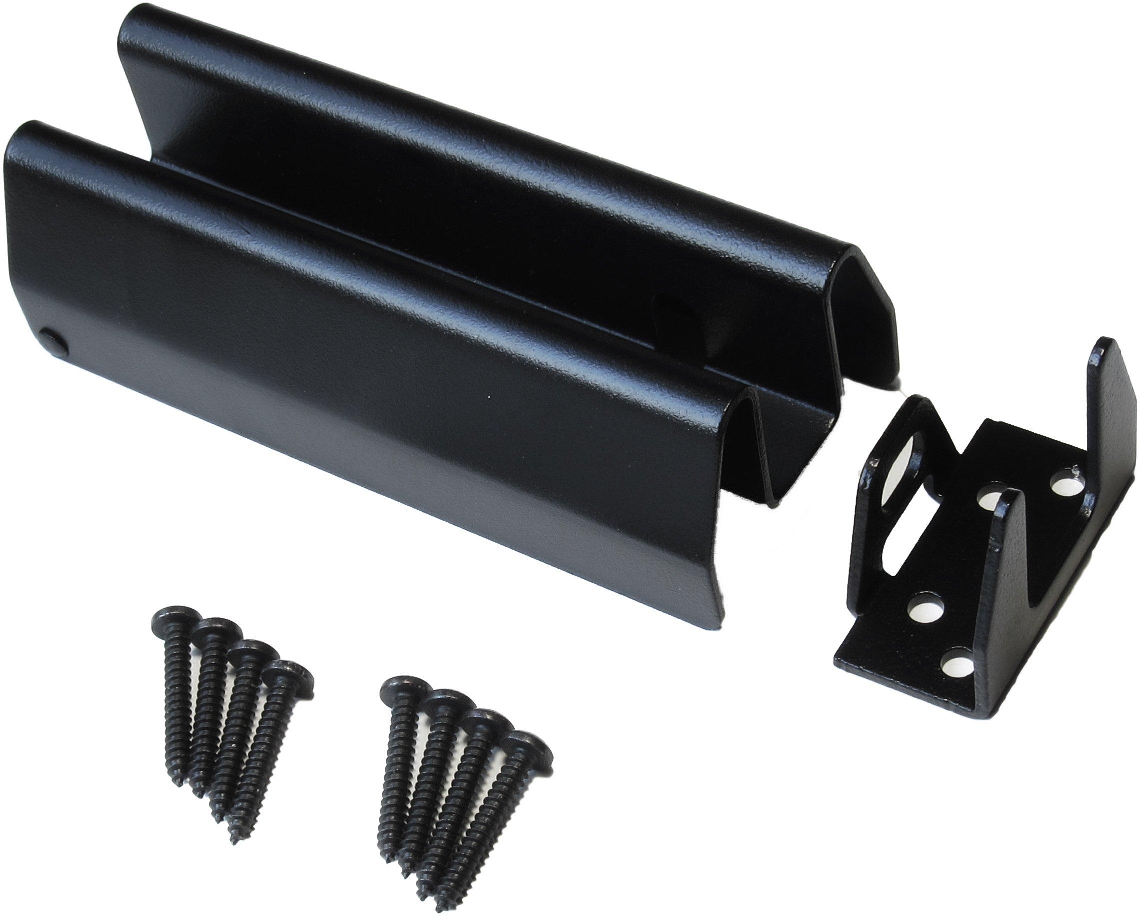 Heavy Metal Tamper Proof 6'' Heavy Duty Security Hasp - Stops Bolt Cutters - Black Powder Coat