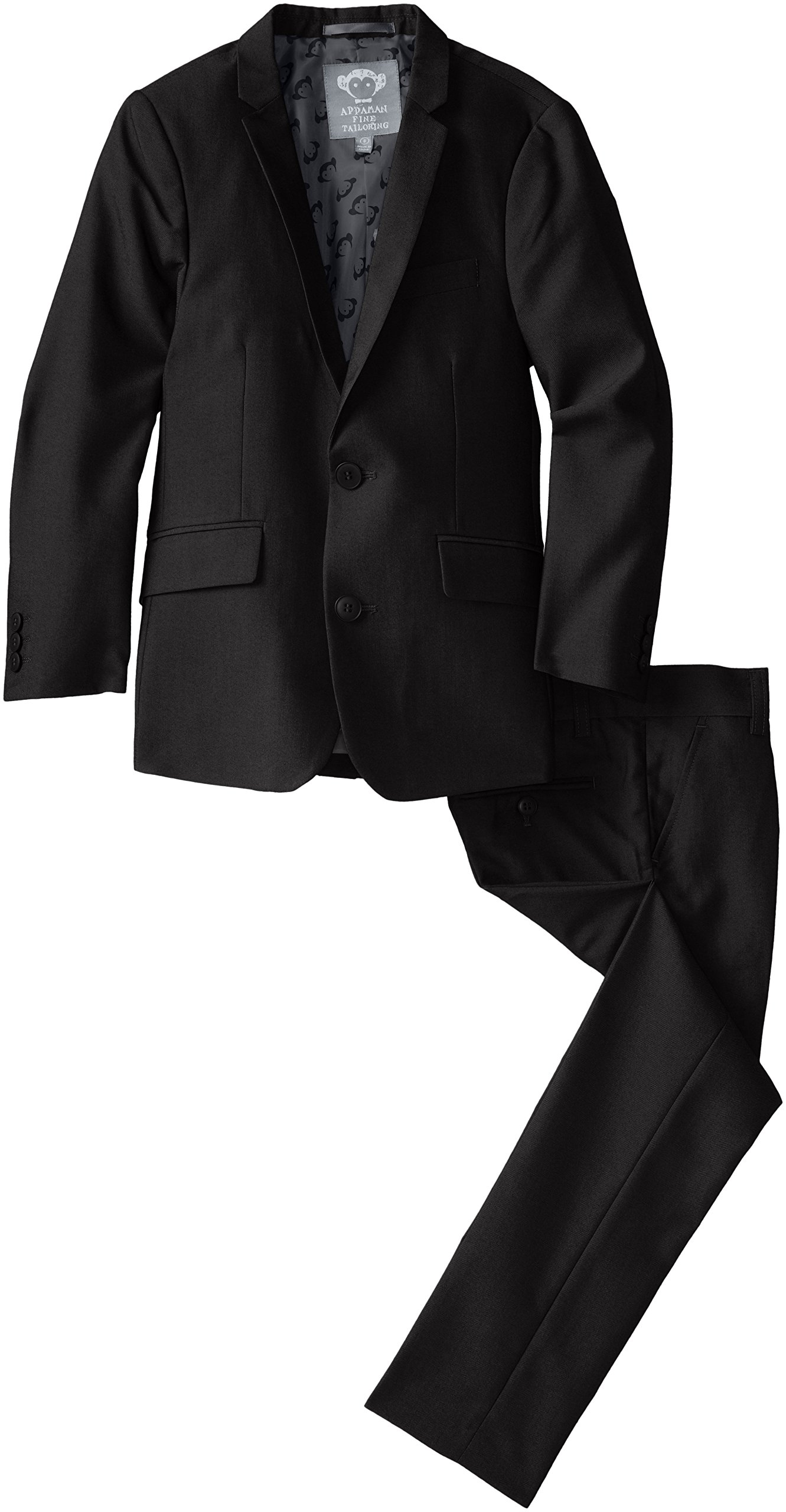 Appaman Big Boys' Two Piece Classic Mod Suit, Black, 10