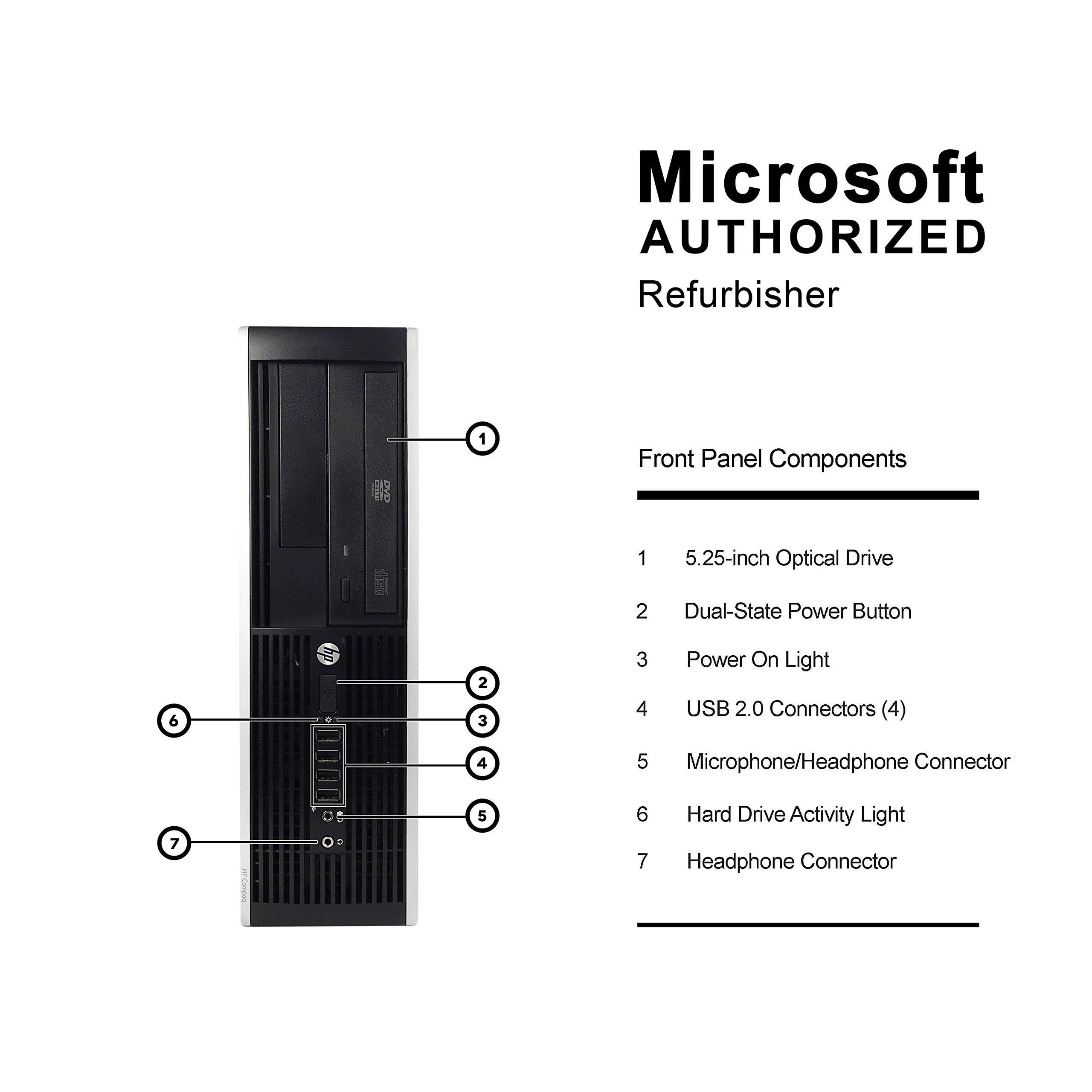 HP Elite 8300 mini PC Business High Performance Desktop Computer(Intel Core i7-3770 3.4GB,16G DDR3,240G SSD+3TB,DVD,Radeon 6350 HD+Dual DVI Cable,WiFi,Windows 10 Professional)(Certified Refurbished)